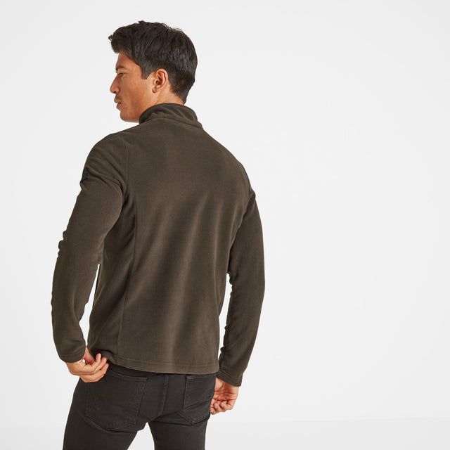 Shire Mens Fleece Jacket - Khaki image 3