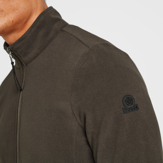 Shire Mens Fleece Jacket - Khaki image 5