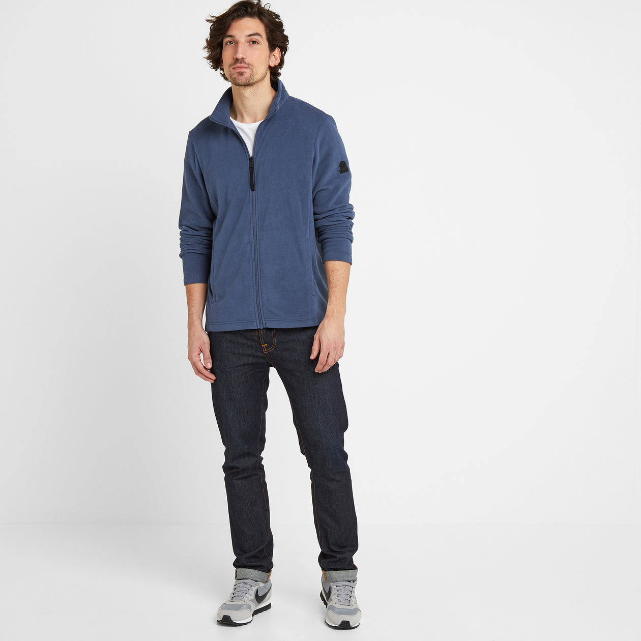 Shire Mens Fleece Jacket - Denim image 4