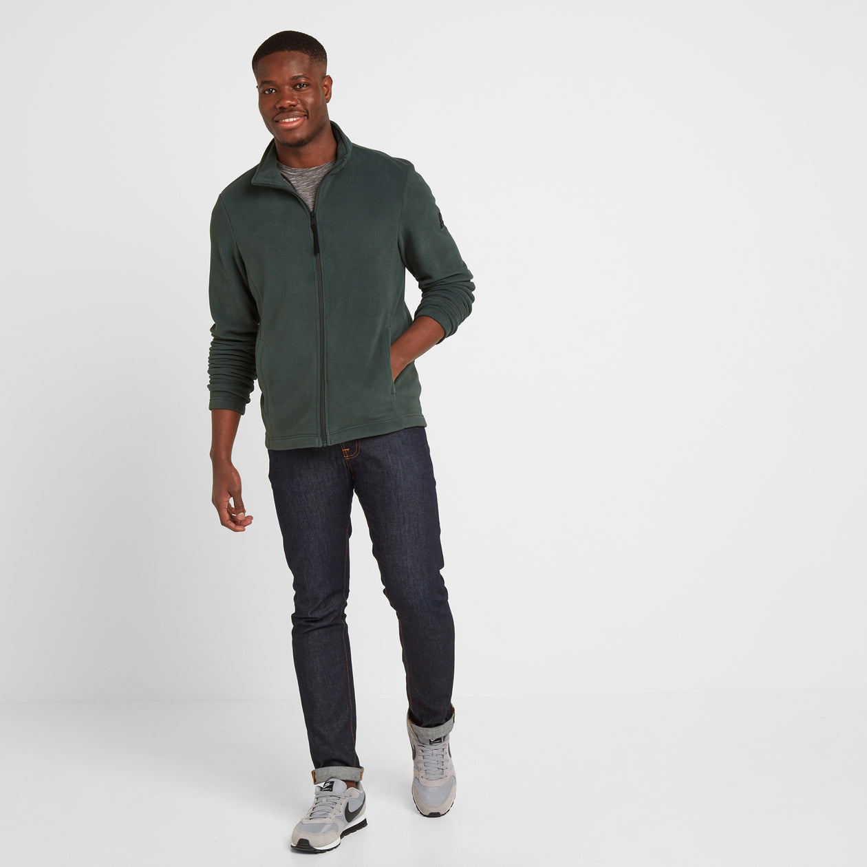 Shire Mens Fleece Jacket - Pine Green image 4
