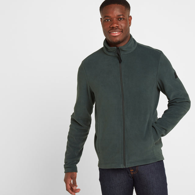 Shire Mens Fleece Jacket - Pine Green image 1