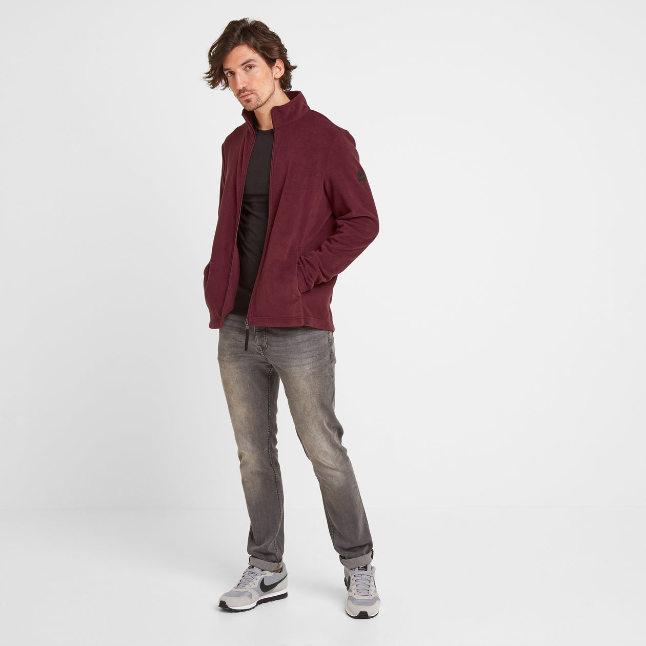 Shire Mens Fleece Jacket - Maroon image 4