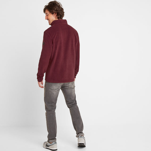 Shire Mens Fleece Jacket - Maroon image 2