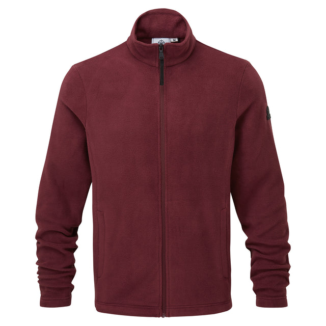 Shire Mens Fleece Jacket - Maroon image 3