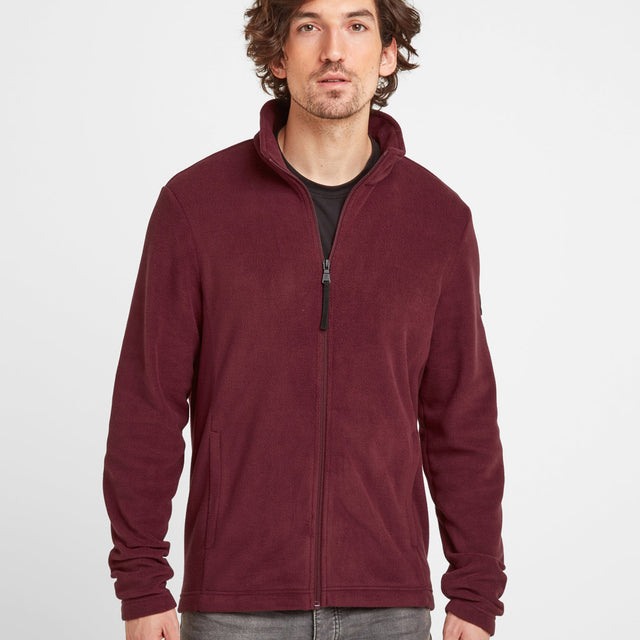 Shire Mens Fleece Jacket - Maroon image 1