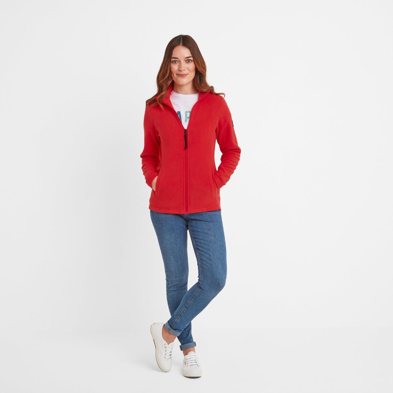 Shire Womens Fleece Jacket - Dark Coral image 4