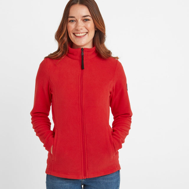 Shire Womens Fleece Jacket - Dark Coral image 1