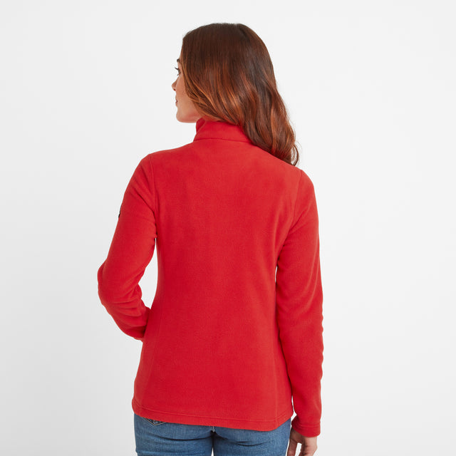 Shire Womens Fleece Jacket - Dark Coral image 2