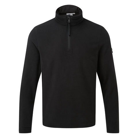 Shire Mens Fleece Zipneck - Black