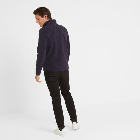Shire Mens Fleece Zipneck - Navy
