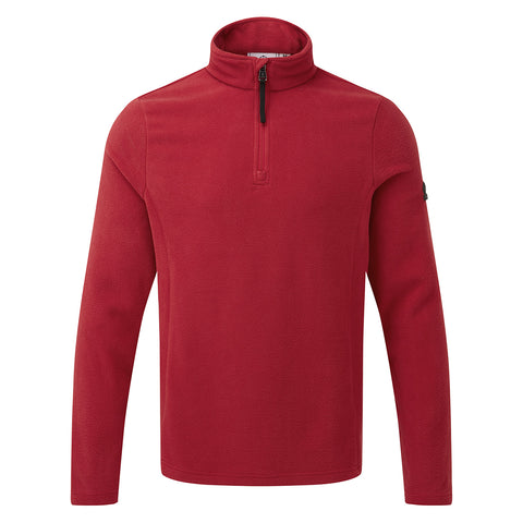 Shire Mens Fleece Zipneck - Chilli Red