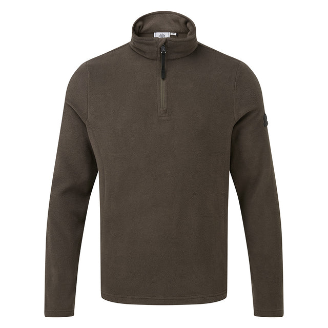 Shire Mens Fleece Zipneck - Khaki