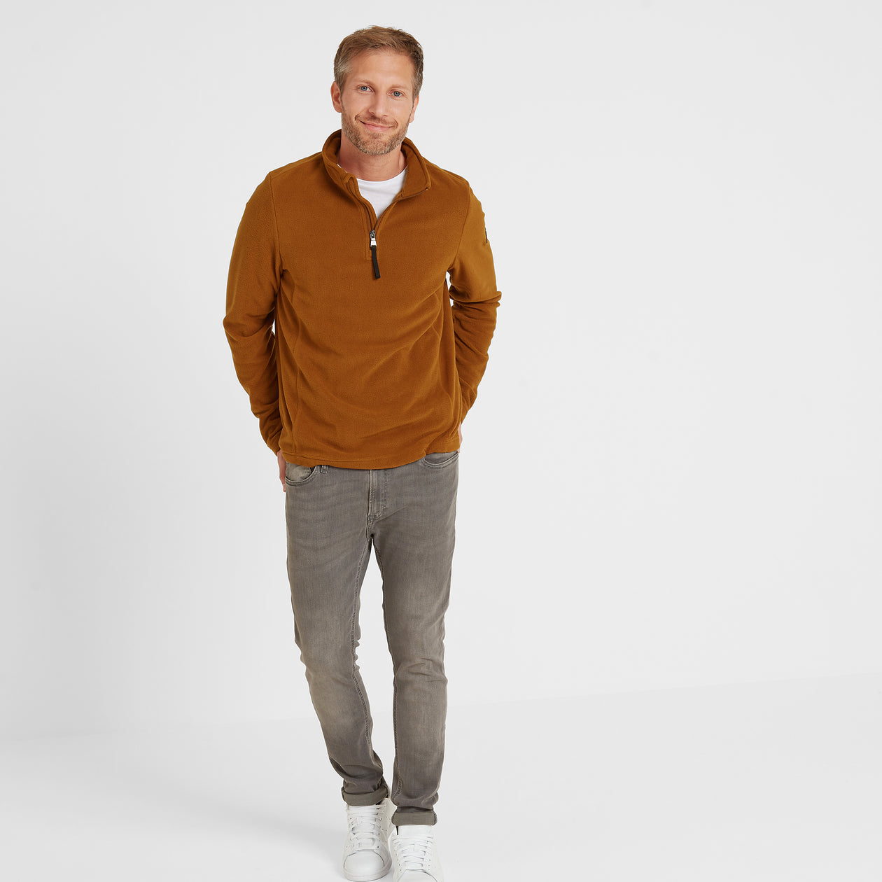 Shire Mens Fleece Zipneck - Amber image 4