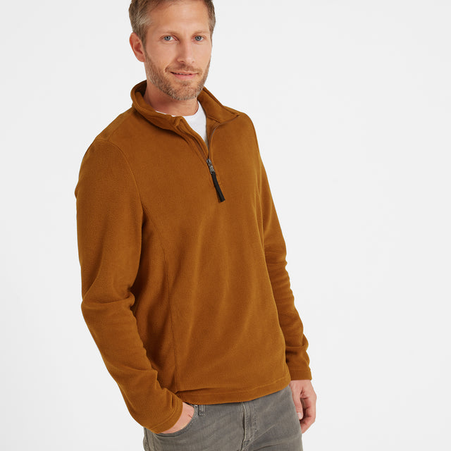 Shire Mens Fleece Zipneck - Amber image 1