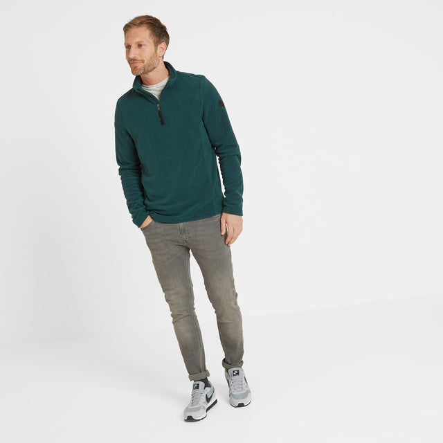 Shire Mens Fleece Zipneck - Forest image 2