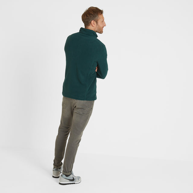 Shire Mens Fleece Zipneck - Forest image 3