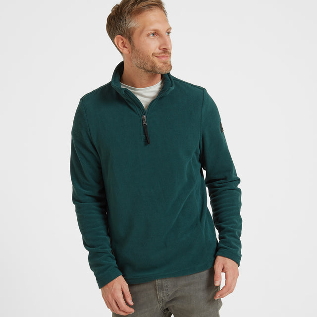 Shire Mens Fleece Zipneck - Forest image 1