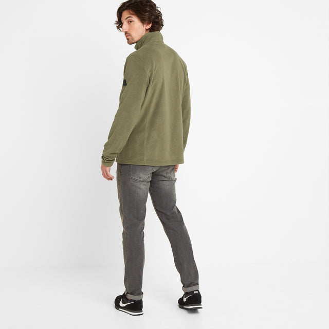 Shire Mens Fleece Zipneck - Light Khaki image 2