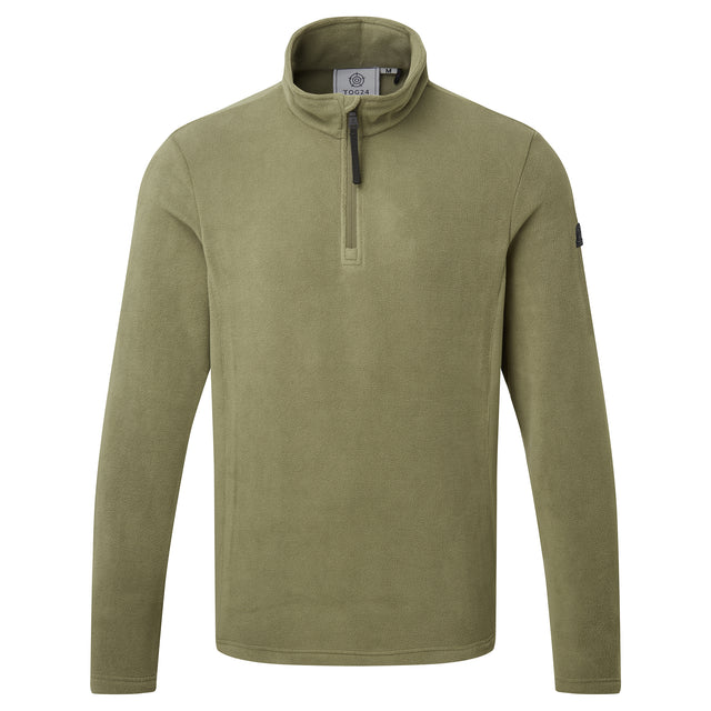 Shire Mens Fleece Zipneck - Light Khaki image 3