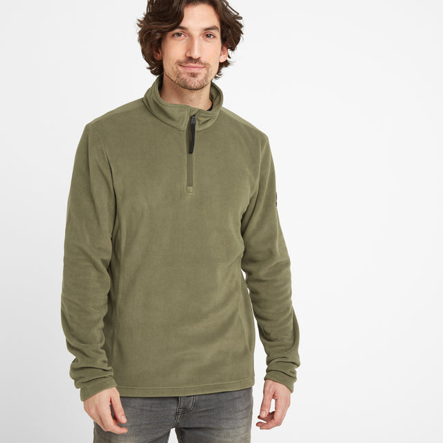 Shire Mens Fleece Zipneck - Light Khaki image 1