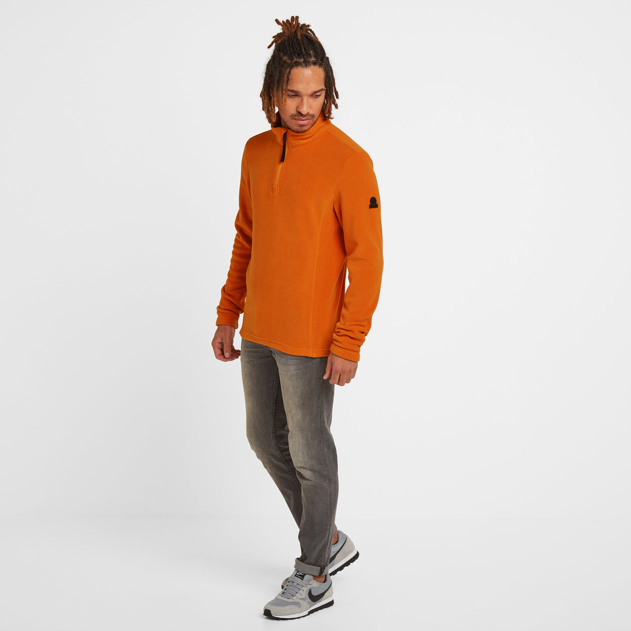 Shire Mens Fleece Zipneck - Satsuma image 4