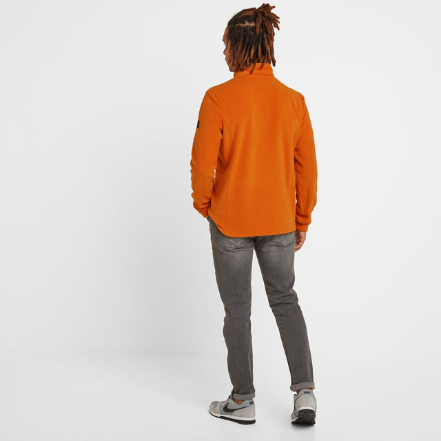 Shire Mens Fleece Zipneck - Satsuma image 2