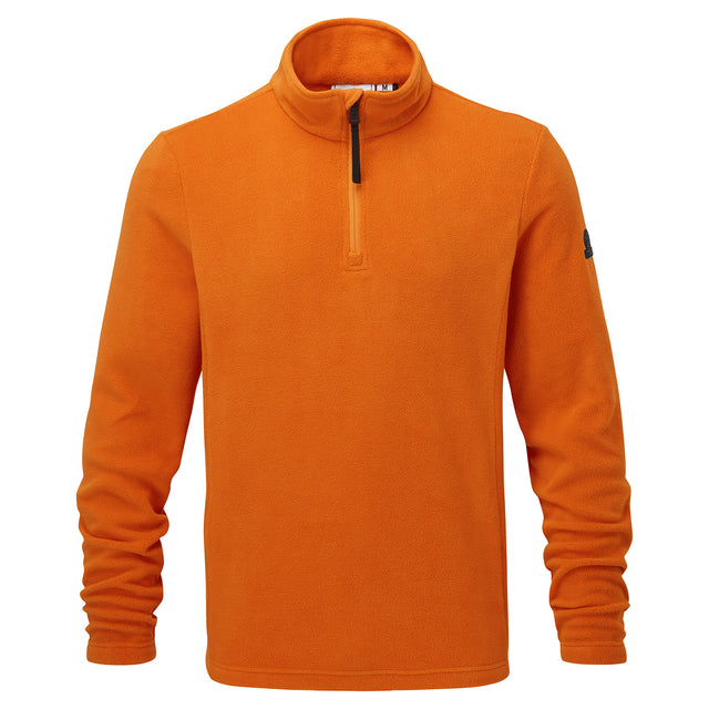Shire Mens Fleece Zipneck - Satsuma image 3