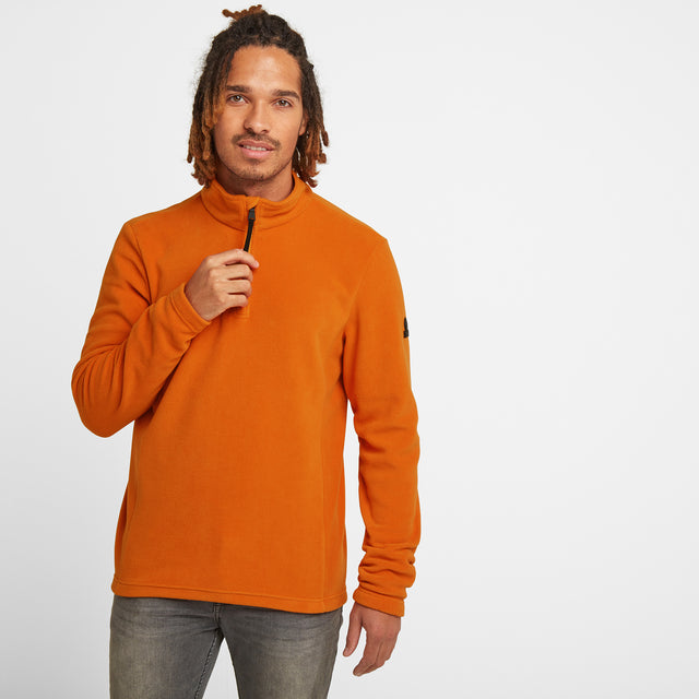 Shire Mens Fleece Zipneck - Satsuma image 1