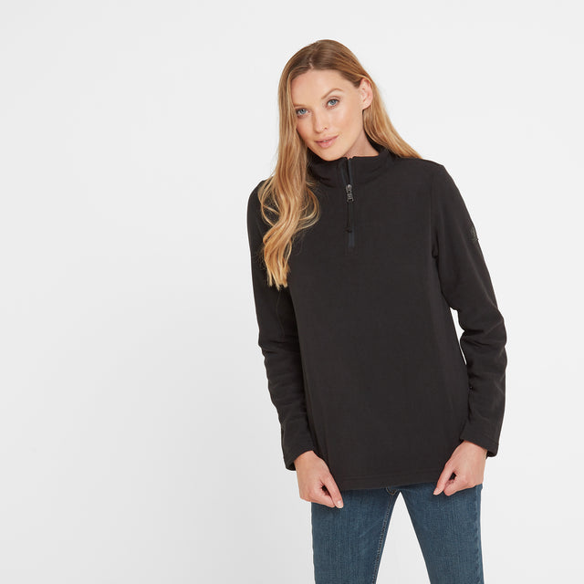 Shire Womens Fleece Zipneck - Black image 1