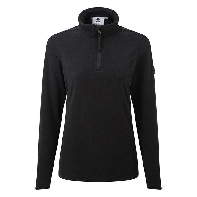 Shire Womens Fleece Zipneck - Black image 3
