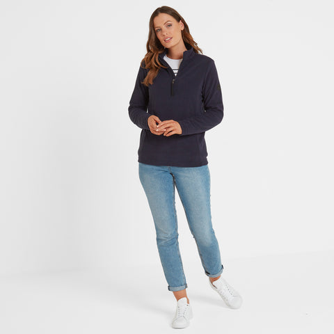 Shire Womens Fleece Zipneck - Navy