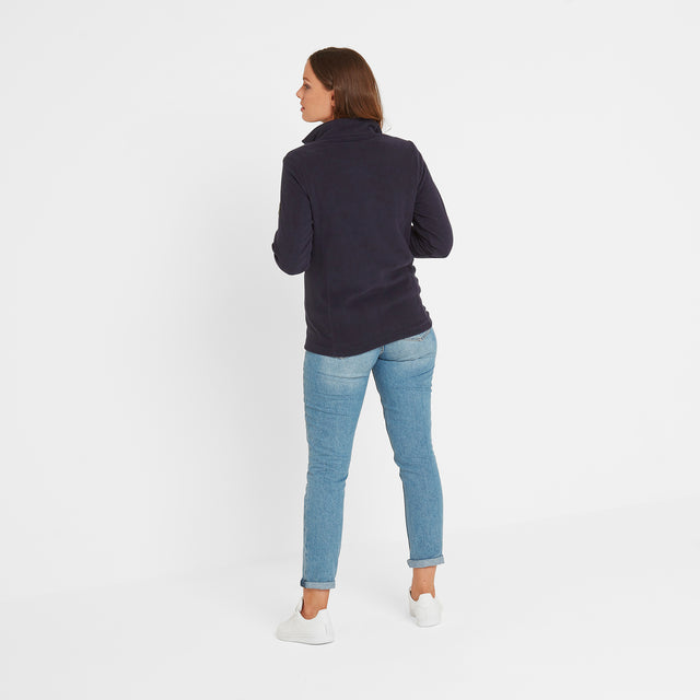 Shire Womens Fleece Zipneck - Navy image 2