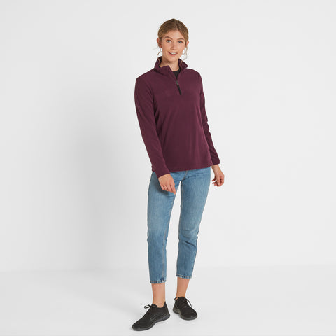 Shire Womens Fleece Zipneck - Aubergine