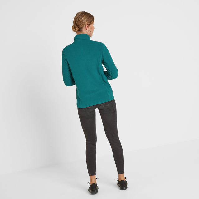 Shire Womens Fleece Zipneck - Topaz image 2