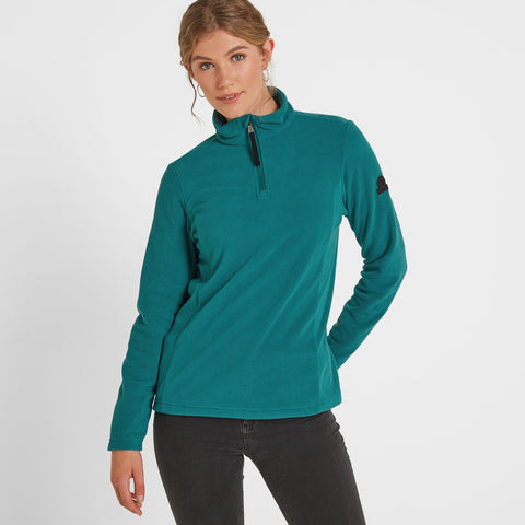Shire Womens Fleece Zipneck - Topaz