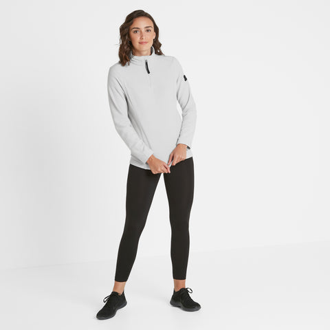 Shire Womens Fleece Zipneck - Ice Grey