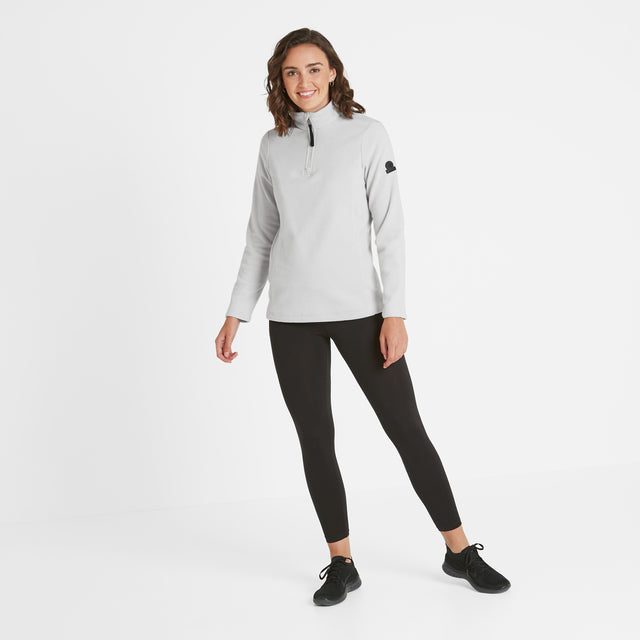 Shire Womens Fleece Zipneck - Ice Grey image 2