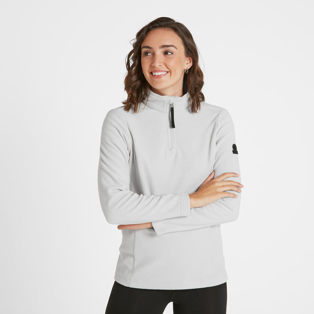 Shire Womens Fleece Zipneck - Ice Grey image 1