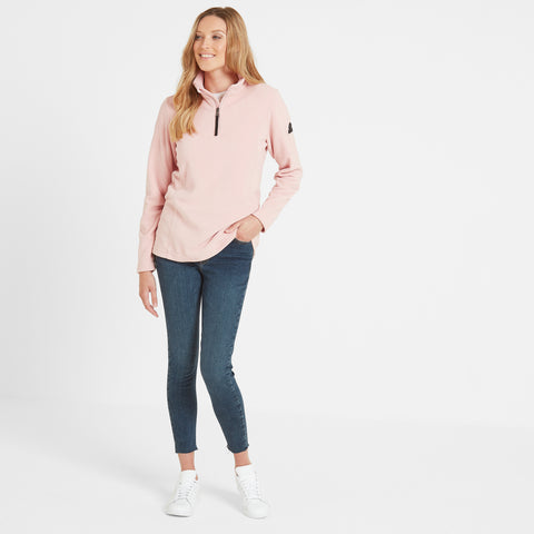 Shire Womens Fleece Zipneck - Rose Pink