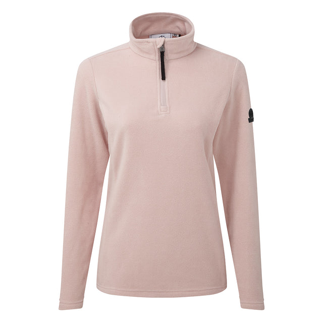 Shire Womens Fleece Zipneck - Rose Pink image 3