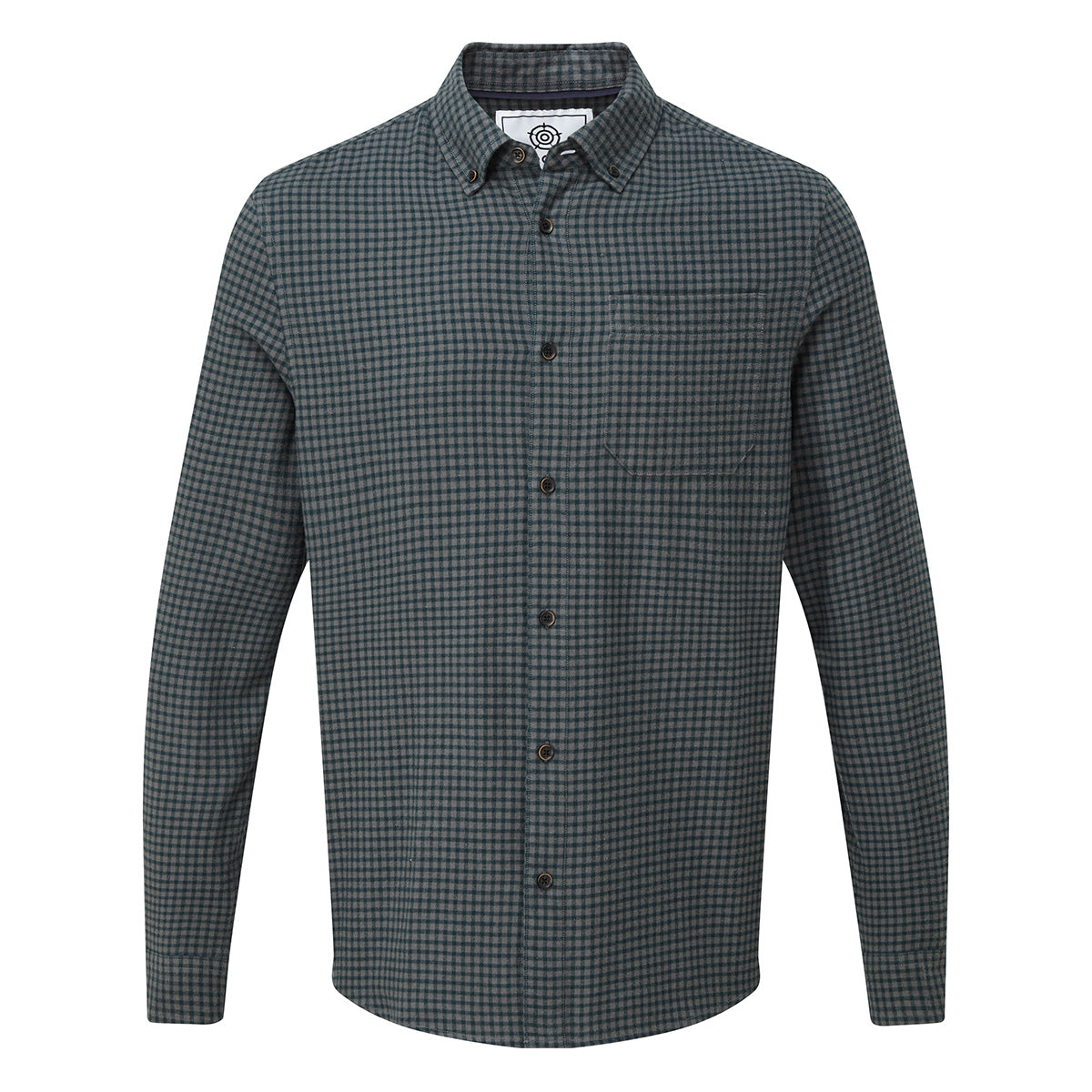 Sidney Mens Long Sleeve Small Flannel Check Shirt - Forest image 4