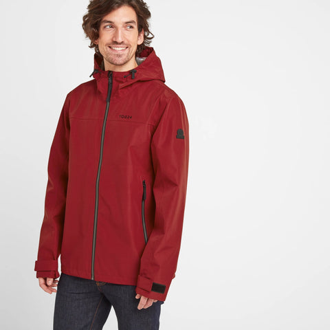 Silkstone Mens Waterproof Jacket - Rio Red