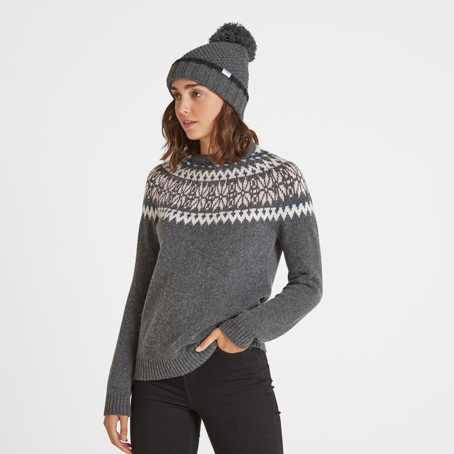 Silsoe Knit Hat - Dark Grey Marl image 1
