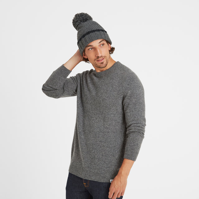 Silsoe Knit Hat - Dark Grey Marl image 2