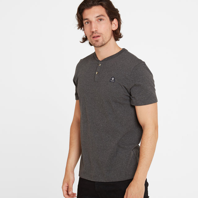 Skell Mens T-Shirt - Dark Grey Marl image 3