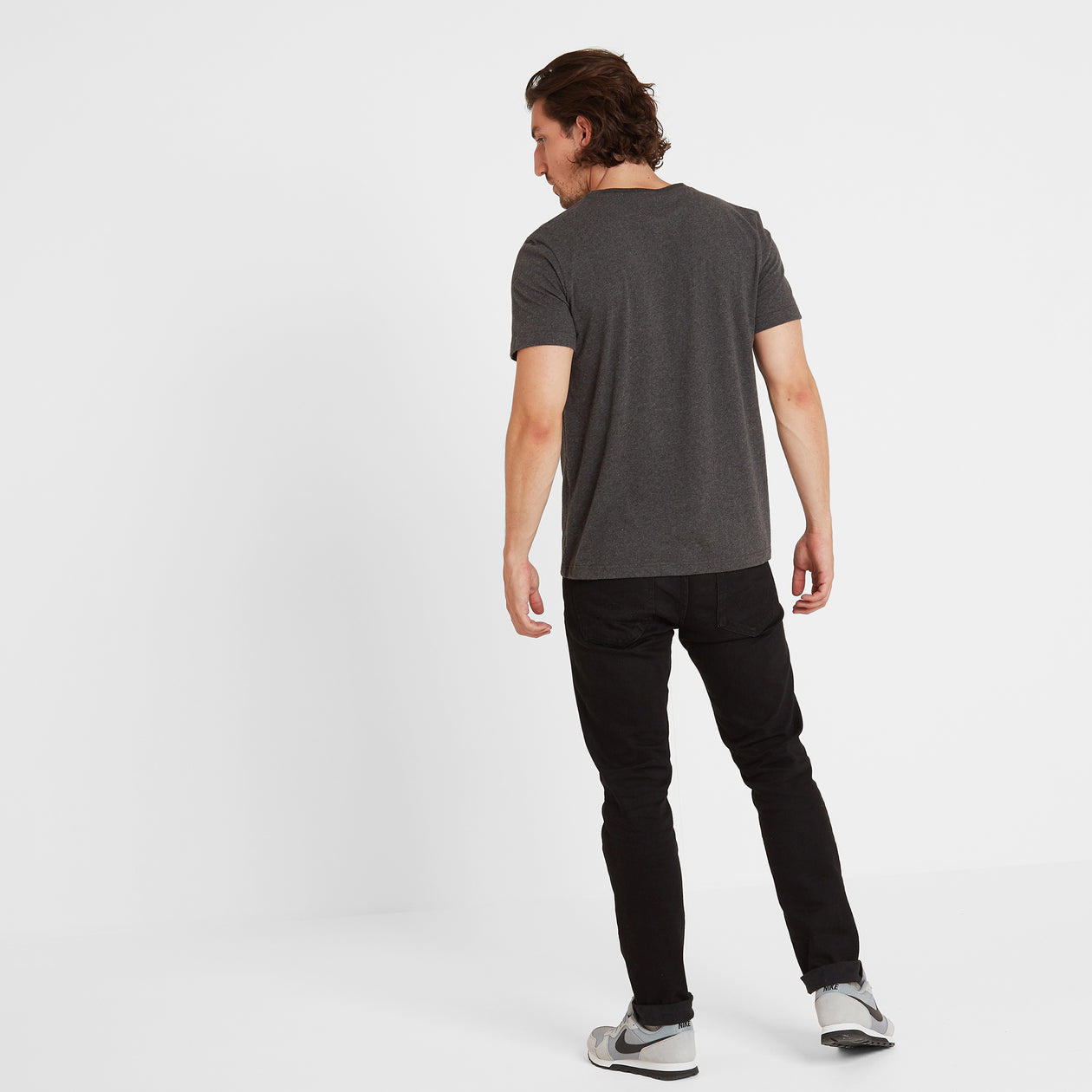 Skell Mens T-Shirt - Dark Grey Marl image 4