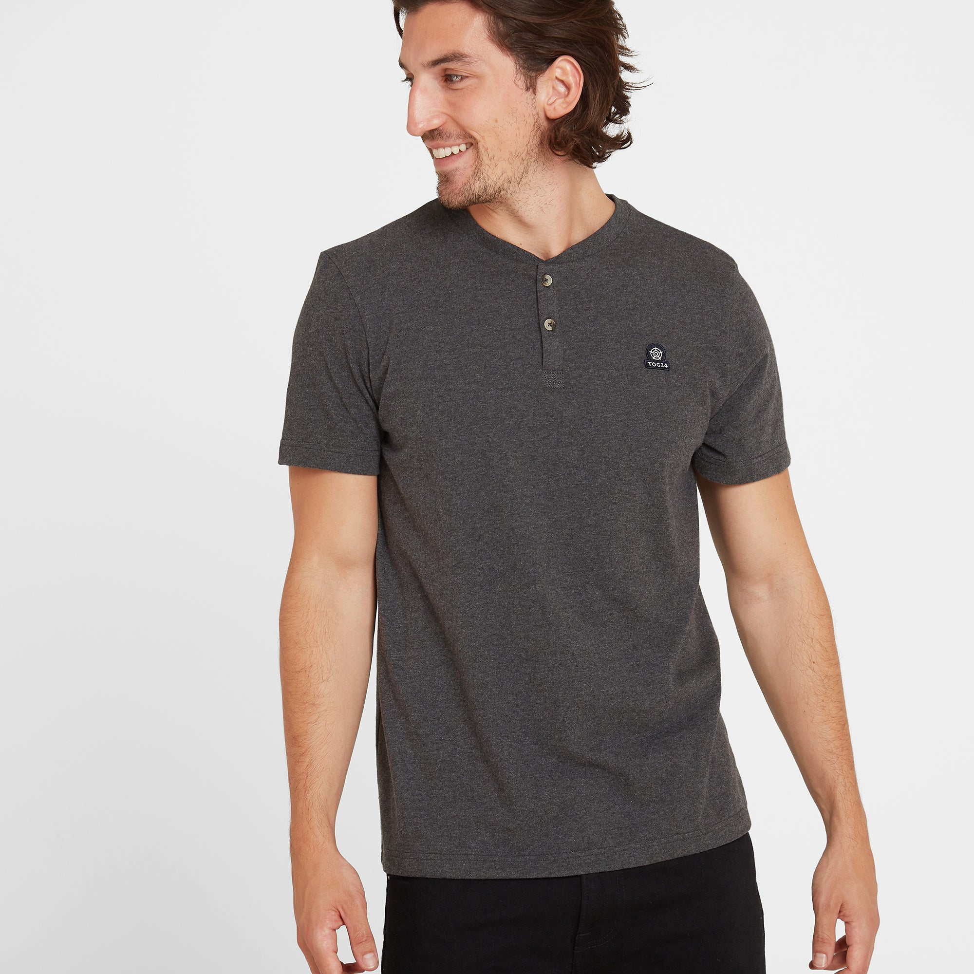 Skell Mens T-Shirt - Dark Grey Marl
