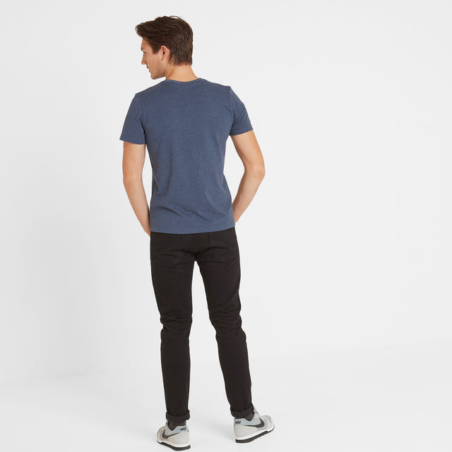 Skell Mens T-Shirt - Naval Blue Marl image 3