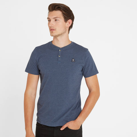 Skell Mens T-Shirt - Naval Blue Marl