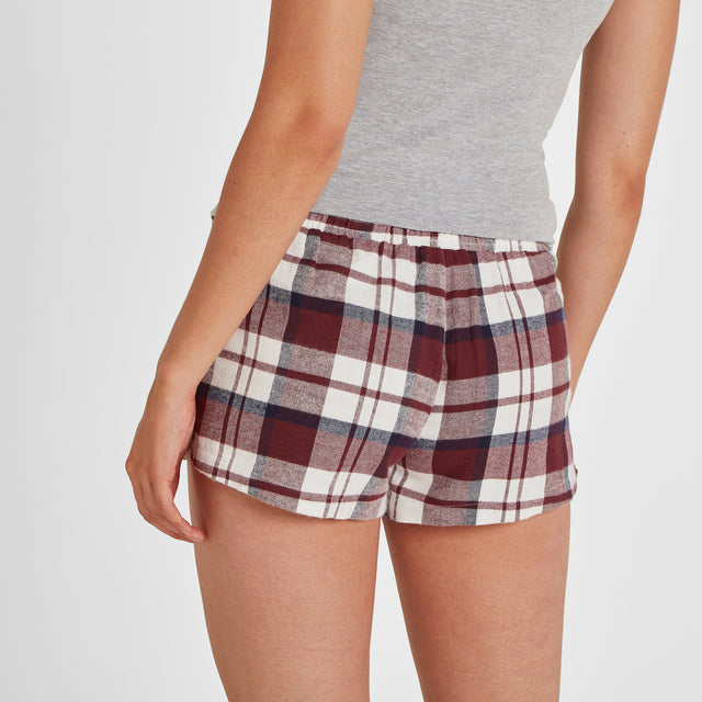 Snooze Womens Short Pyjamas - Grey Marl/Navy Check image 6